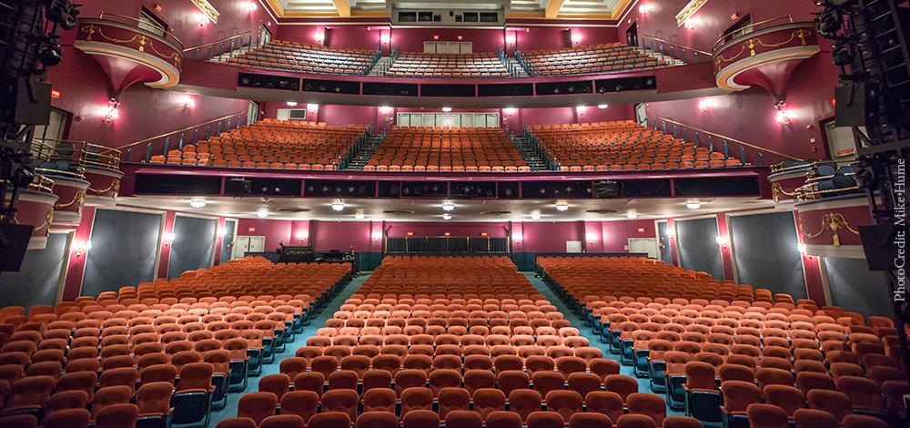 The National Theatre interior venue picture of seats.